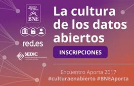 cultura datos abiertos, BNE, Aporta 2017