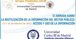 II Jornada sobre reutilización de la información del sector público