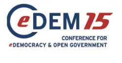 """Logo """"Conferencia Internacional de Democracia Digital y Gobierno Abierto"""""""