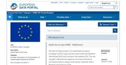 Datos de Copernicus en el European Data Portal