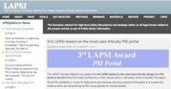Captura del portal LAPSI