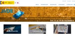 Captura web XII Jornadas Ibéricas de Infraestructuras de Datos Espaciales
