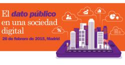 """Imagen del lema del Encuentro Aporta 2015 """"El dato público en una sociedad digital"""""""