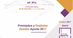 Desafío Aporta 2017, finalistas y premiados, prototipos datos abiertos