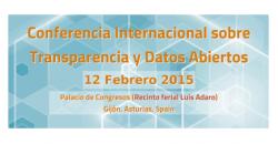 """Imagen informativa de la """"Conferencia Internacional sobre Transparencia y Datos Abiertos"""""""