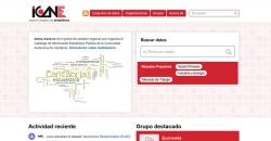 Captura del portal de datos Abiertos ICANE