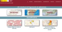 Captura de la plataforma IDEE