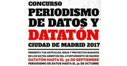 """Imagen informativa sbre """"Concurso Periodismo de datos y datación 2017"""""""
