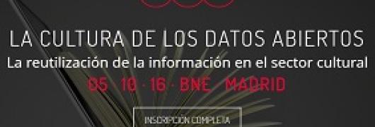 """Imagen informatica obre el evento """"La Cultura de los Datos Abiertos: la Reutilización de la información en el Sector Cultural"""""""