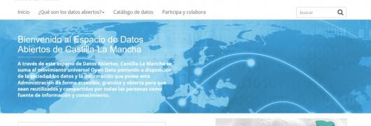 """Captura de """"Datos Abiertos de Castilla-La Mancha"""""""