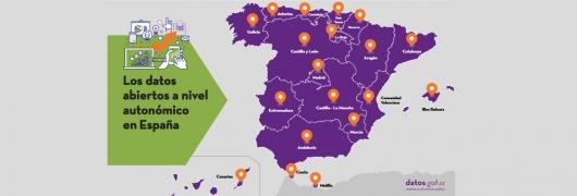 """Captura de la infografía """"Los datos abiertos a nivel autonómico en España"""""""