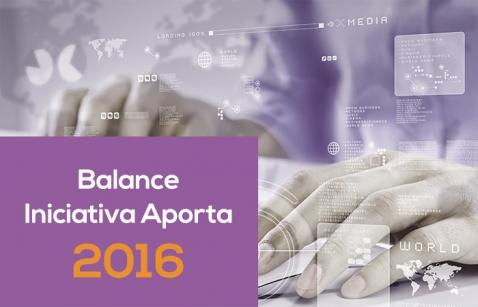 Balance Iniciativa Aporta 2016