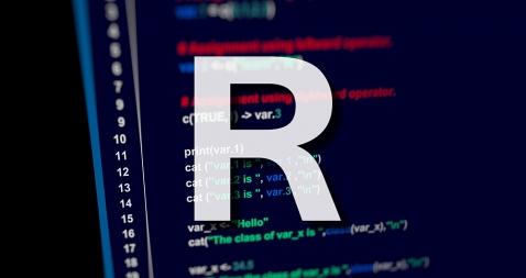 pantalla con lenguaje R