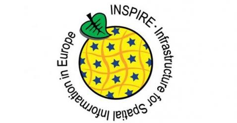 """Logo de la Directiva de la Comisión europea """"INSPIRE: Infrastructure for Spatial Informatión in Europe"""""""