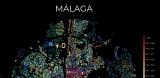Mapa del crecimiento urbano de Málaga