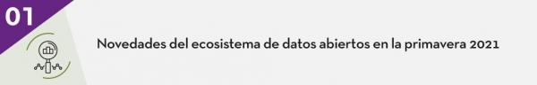 1. Novedades del ecosistema de datos abiertos en la primavera 2021