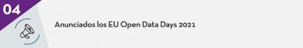 4.Anunciados los EU Open Data Days 2021