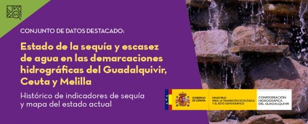 Conjunto de datos destacado: Estado de la sequía y escasez de agua en las demarcaciones hidrográficas del Guadalquivir, Ceuta y Melilla