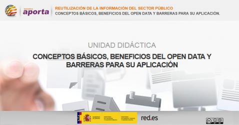 Portada Unidad: Conceptos básicos, beneficios del Open Data y barreras para su aplicación