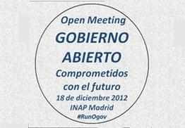 Open Meeting Gobierno Abierto INAP