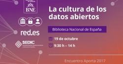 La cultura de los datos abiertos: Biblioteca Nacional de España 19 de octubre