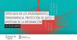 Cartel del curso Datos abiertos en los ayuntamientos: transparencia, protección de datos y apertura de la información