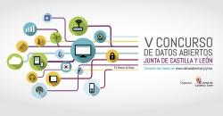 Cartel Concurso de datos abiertos de Castilla y León