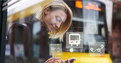 Líneas, paradas y tiempos  de espera del autobús urbano