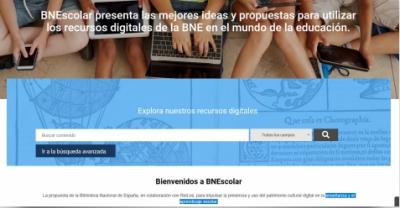 La Biblioteca Nacional de España y la Entidad Pública Red.es presentan el portal educativo BNEscolar