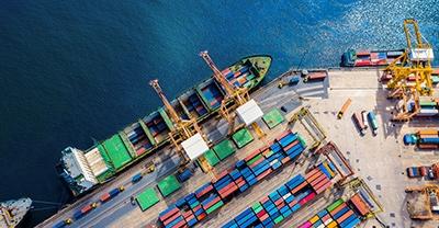Monthly port traffic statistics