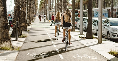 Cycling routes in the city of Barcelona