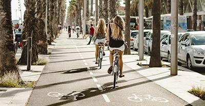 Rutas en bicicleta na cidade de Barcelona