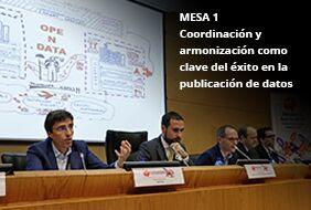 Mesa 1: Coordinación y armonización como clave del éxito en las publicación de datos