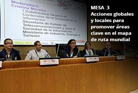 Mesa 3: Acciones globales y locales para promover áreas clave en el mapa de ruta mundial